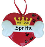 Personalized Best Dog Christmas Ornament