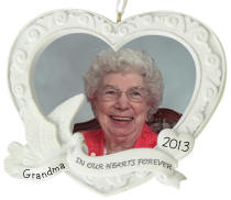 In Our Hearts Photo Frame Ornament
