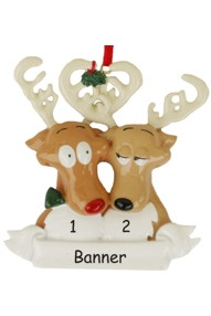 Reindeer Family of 2 Christmas Ornament
