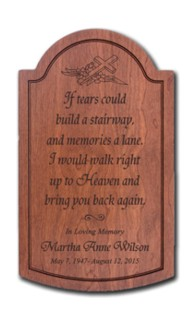 Personalized Memorial Hardwood Plaque