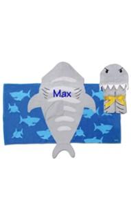 Stephen Joseph Hooded Shark Towel