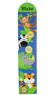 Personalized Boy Zoo Growth Chart