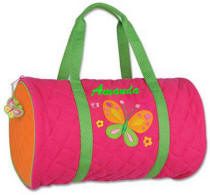 Butterfly Quilted Duffle