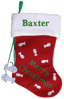Personalized Merry Christmas Cat  Stocking