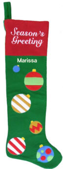 Jumbo Seasons Greetings Stocking