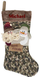 Gone Fishing Camo Stocking