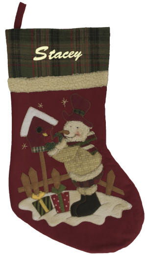 Velour Christmas Stockings