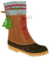 Duck Boot Christmas Stocking
