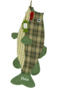 Largemouth Bass Christmas Stocking