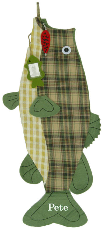 personalized christmas stockings large mouth bass