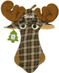Festive Moose Christmas Stocking