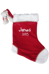 Polar Bear First Christmas Stocking