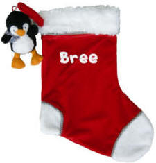 Penguin First Christmas Stocking