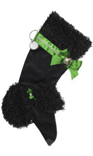 Hearth Hounds Personalized Black Poodle Christmas Stocking