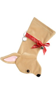 Personalized Chihuahua  Christmas Stocking