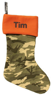 Camo Orange Top Christmas Stocking