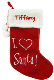 I (Heart) Santa Christmas Stocking