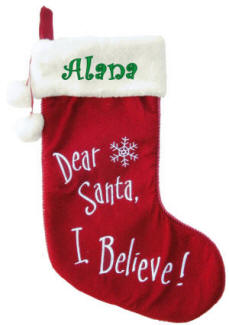 Santa, I Believe Christmas Stocking