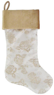 Cream Organza Christmas Stocking