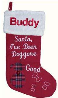 Santa I've Been Doggone Good Christmas Stocking
