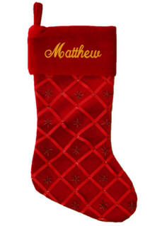 Red Ribbom Christmas Stocking