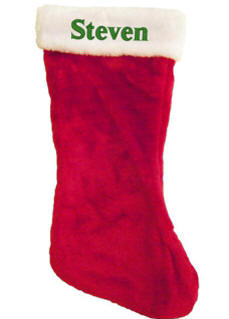 20 in. Plush Christmas Stocking