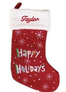 Happy Holidays Christmas Stocking