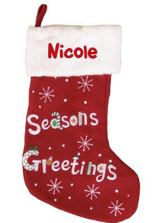Seasons Greetings Christmas Stocking