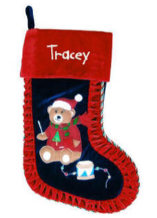 Little Drummer Bear Christmas Stocking