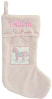 Pink My First Personalized  Christmas Stocking