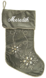 Silver Jeweled Stocking