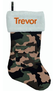 Camo Christmas Stocking | Unique Mens Christmas Stockings | Mens Gifts