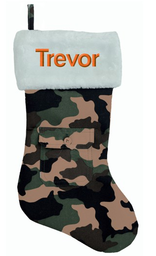 camo christmas stocking unique mens christmas stockings mens gifts - Camo Christmas Stocking