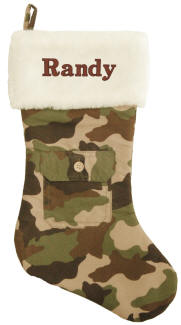 Green Camo Christmas Stocking