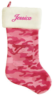 Pink Camo Christmas Socking