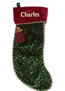 Luxurious Christmas Velvet Stocking