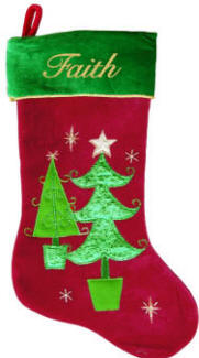 Double Tree Christmas Trees Stocking