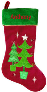 Tiered Christmas Trees Christmas Stocking