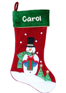 Happy Snowman Personalized Christmas Stocking