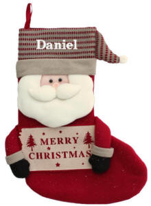 Plush Santa Stocking Sign