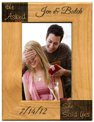 He Asked, She Said Yes Engagement Frame