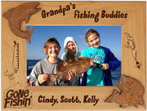 Personalized Dad's Fishing Buddies Frame