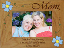 Personalized Mother's are Forever Flower Photo Frame