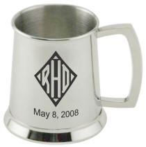 Personalized Mirror Finished Stainless Steel Tankard