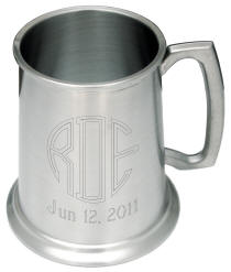 Personalized Satin Finish Pewter Tankard