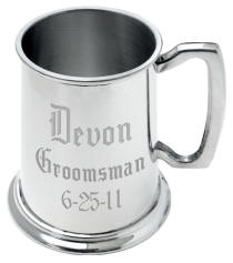 Personalized Mirror Finish Pewter Tankard