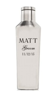 Personalized 25oz. Brushed Steel Canteen
