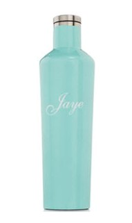 Personalized 25oz. Gloss Turquoise Canteen