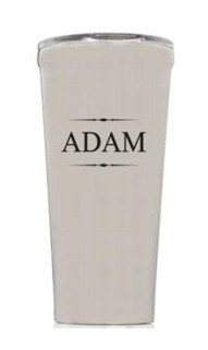 Personalized 16oz. Brushed Steel Tumbler