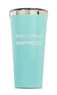 Personalized 16oz. Gloss Turquoise Tumbler